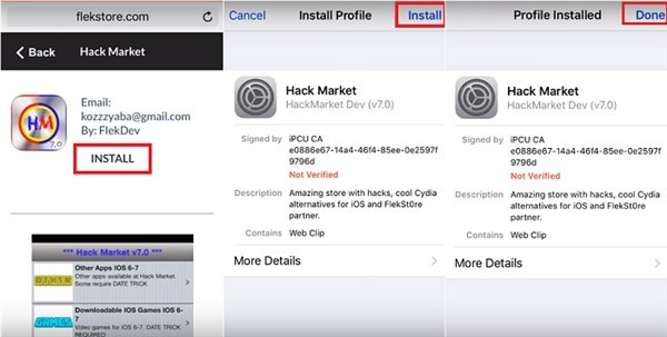 IOS Hack Market 10 2 1, 10 2, 10 1 1 iPad / iPhone Without