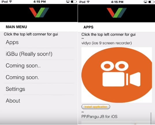 Vidyo Screen Recorder per iOS 10, 9 3 3, 9 3 2, 9 3 1 your iPad