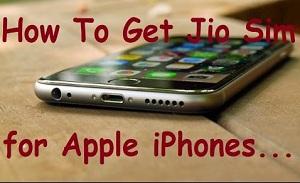 iphone için jio sim nasıl