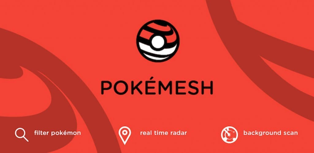 mapa en tiempo real pokemesh para el iphone - descarga pokemesh por iPhone