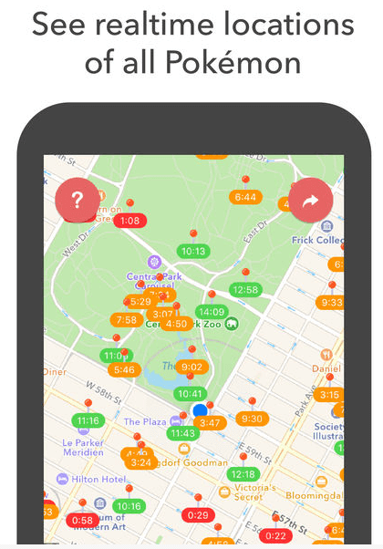 use pokealert apk app to see in realtime the positions of all pokemon - download the pokealert app for iphone and android