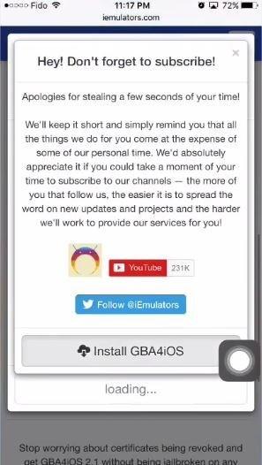 GBA4iOS iOS 11 Installazione
