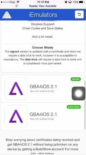 GBA4iOS iOS 11
