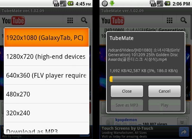 download tubemate for windows 8 Multimedia Android