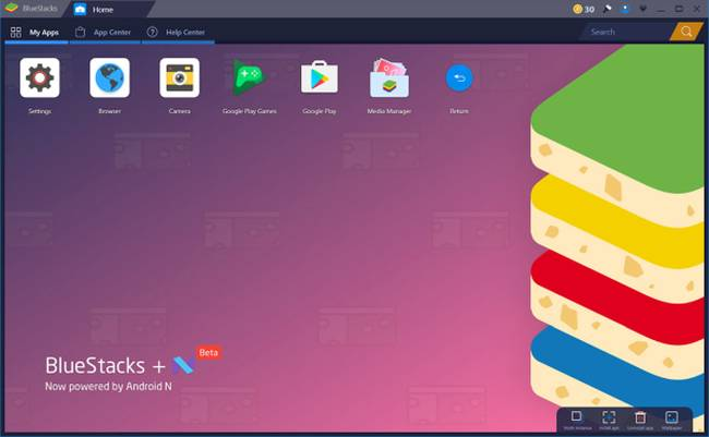 Herunterladen Bluestacks N Torrone Beta