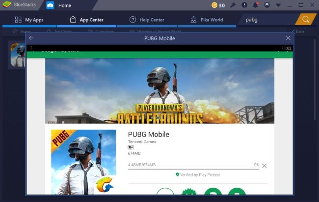 PUBG Mobile Installation on the PC with Bluestacks