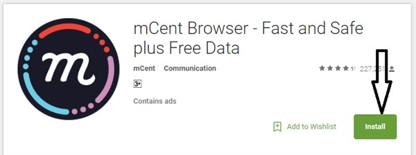 mCent Browser per PC